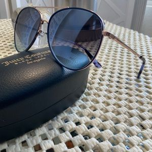 Juicy Couture Blue/Gold Pilot sunglasses NWT